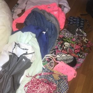 LARGE BUNDLE. ( Hardly used PINK & Vera Bradley)